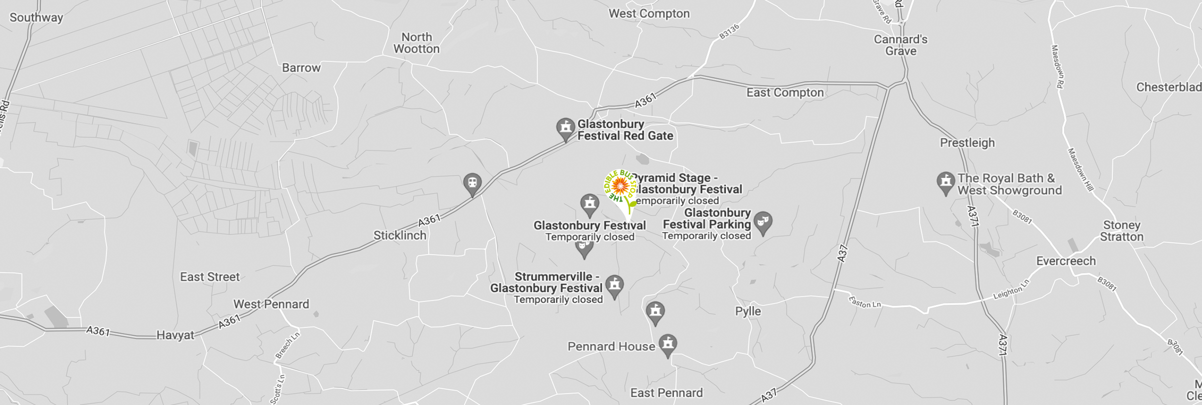 GLASTONBURY FESTIVAL MAP